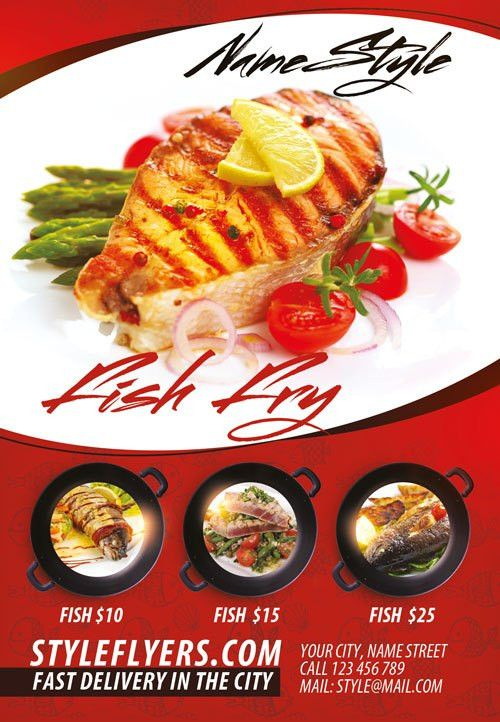 Fish Restaurant Free Flyer Template - Download for Photoshop