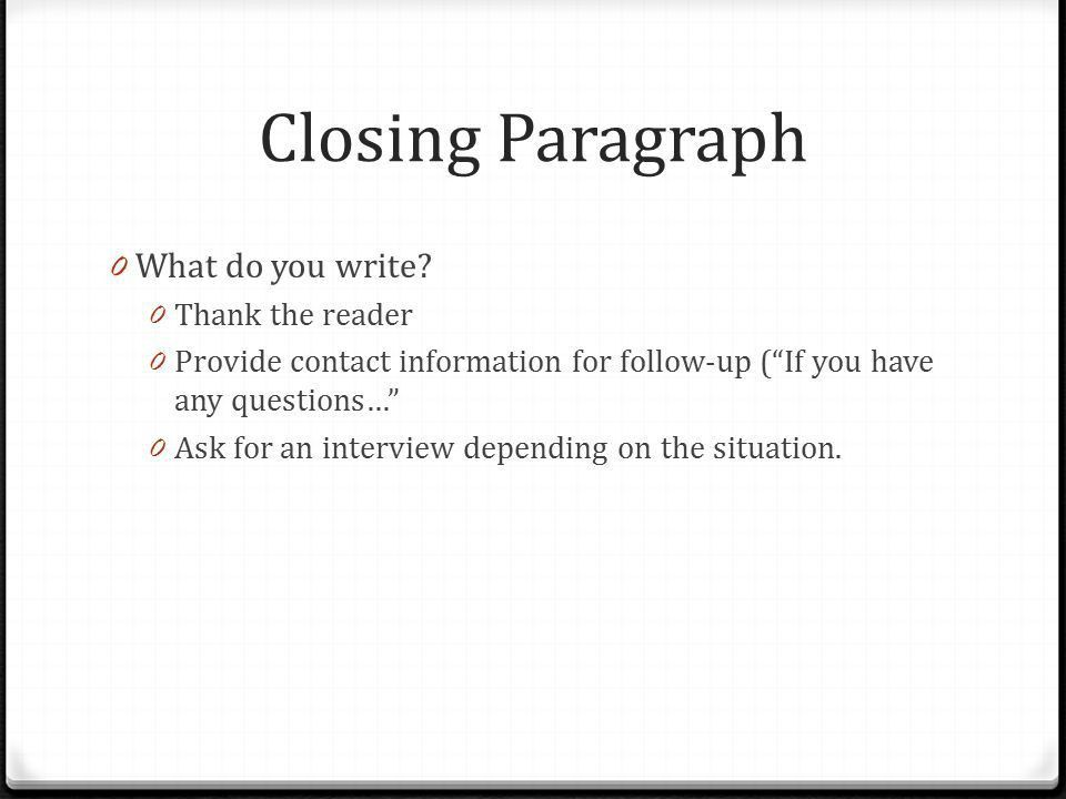 Cover Letters September 23, Overview 4 main purposes: 1 ...