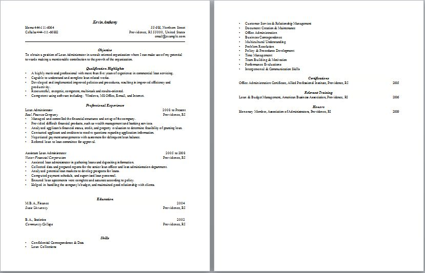 Free mortgage processor resume templates. Attentioncent.ml