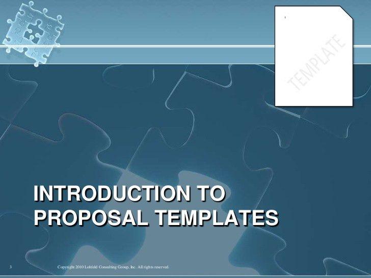APMP: Best Proposal Templates
