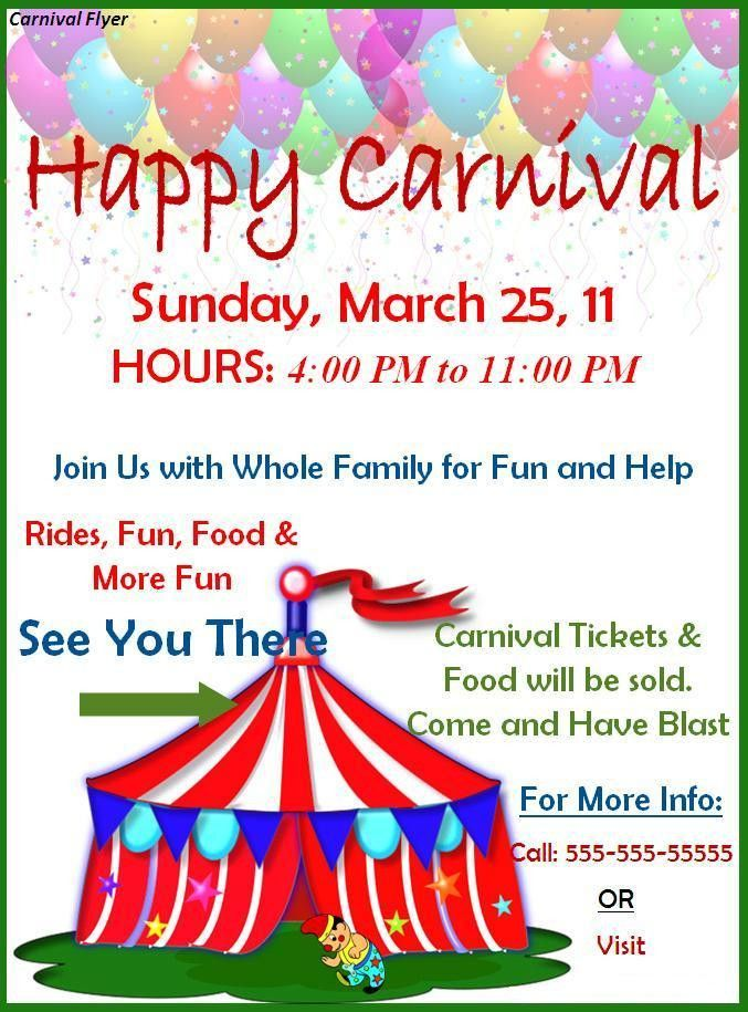Carnival Flyer Template - Best Word Templates