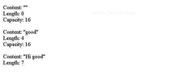 Java Data Type Tutorial - Java StringBuilder/StringBuffer