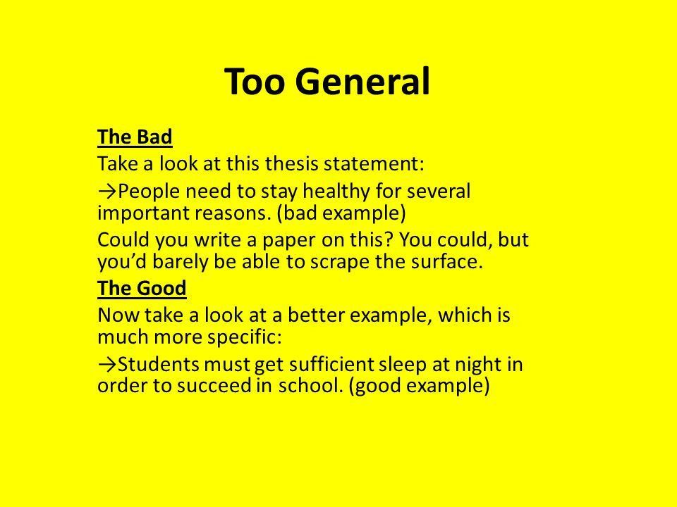 How to Write a Thesis Statement: The Good and The Bad - ppt video ...