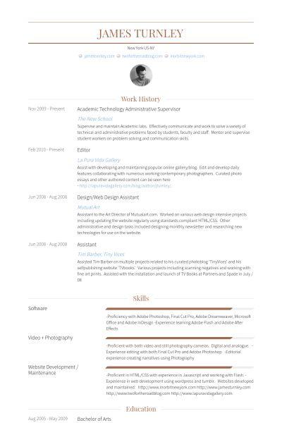 Administrative Supervisor Resume samples - VisualCV resume samples ...
