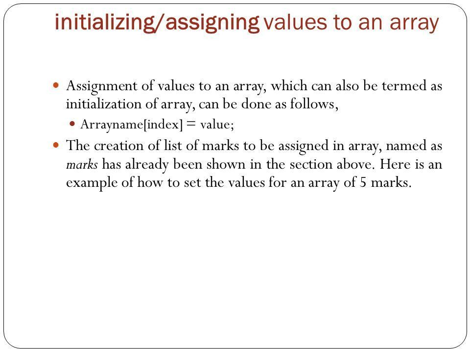 Arrays in java Unit-1 Introduction to Java. Array There are ...