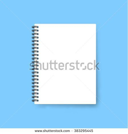 Realistic Template Notebook Blank Cover Design Stock Vector ...