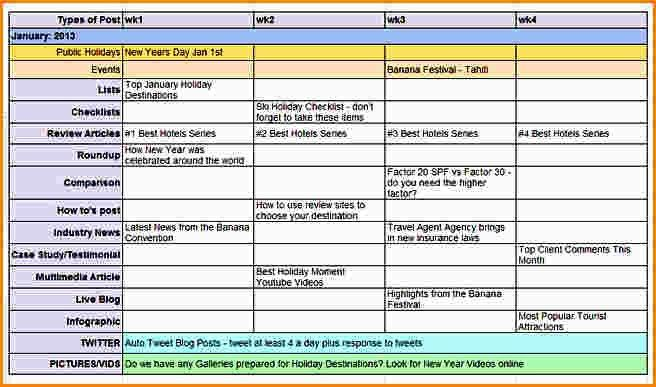 13+ content calendar examples | paradochart