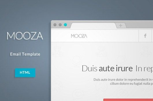 Free HTML Email: Mooza Newsletter Template   OmahPSD
