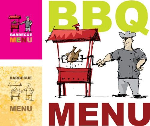 Chef with menu cover templates vector graphic Free vector in ...
