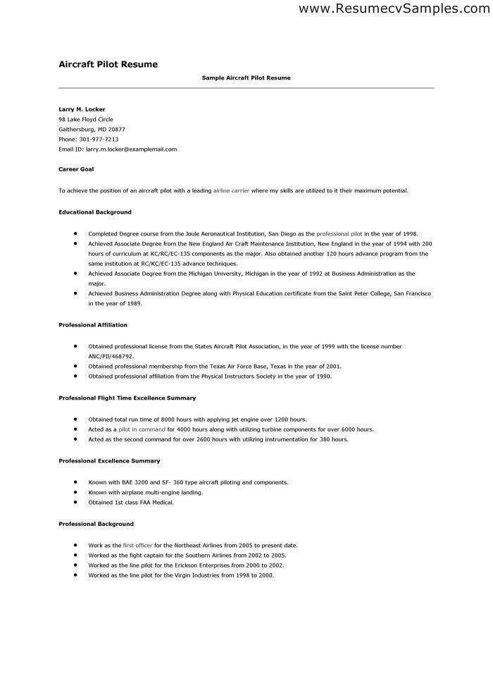 Cover Letter Sample Aircraft Mechanic Entry Within 25 ...