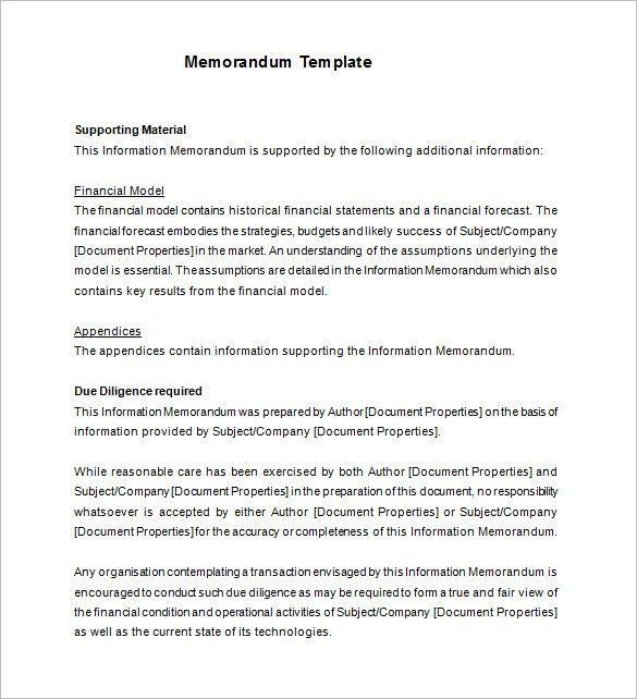 12+ Memorandum Templates – Free Word, PDF Documents Download ...