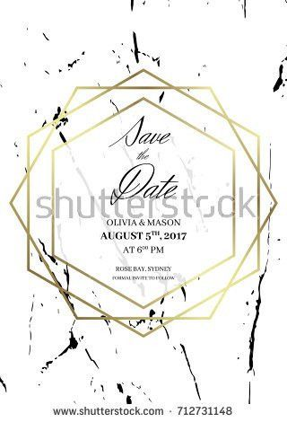 Save Date Design Template Invitation Holiday Stock Vector ...