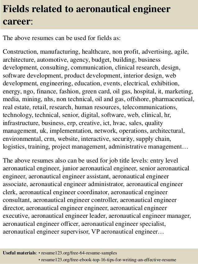 Aeronautical Engineer Sample Resume | haadyaooverbayresort.com