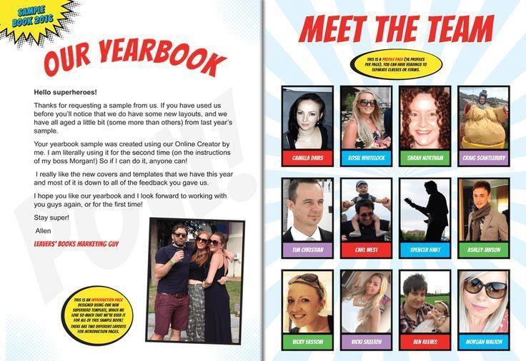 Leavers' Books - Yearbook Sample   School leavers book   Pinterest ...