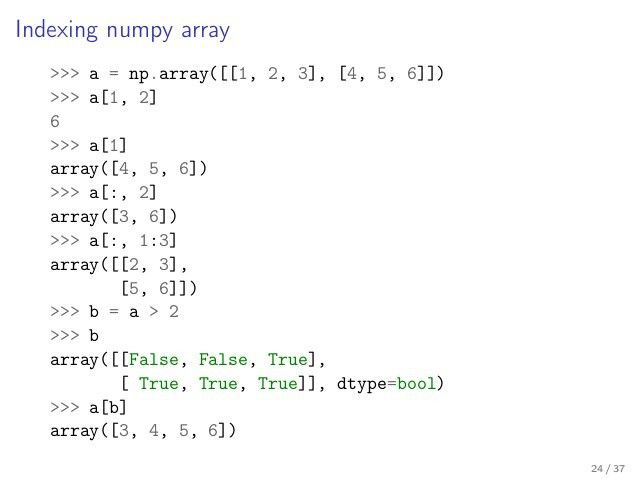Numerical tour in the Python eco-system: Python, NumPy, scikit-learn