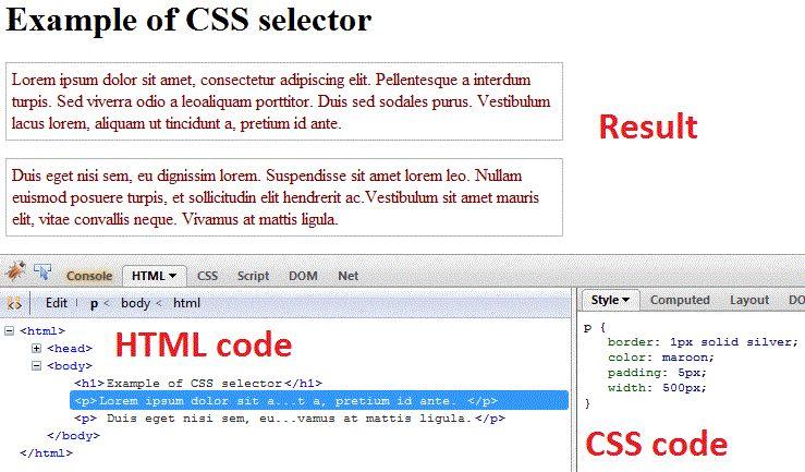CSS selectors - CSS tutorials - w3resource