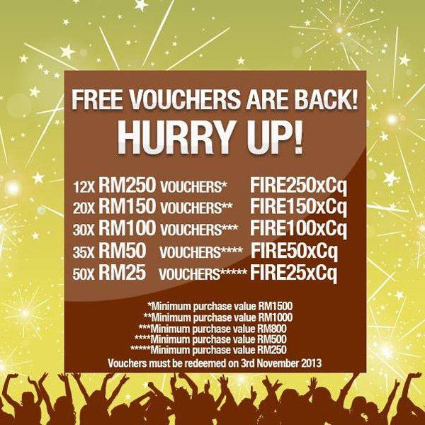 RM250/RM150/RM100/RM50/RM25 Free Lazada Vouchers - Chen's Blog
