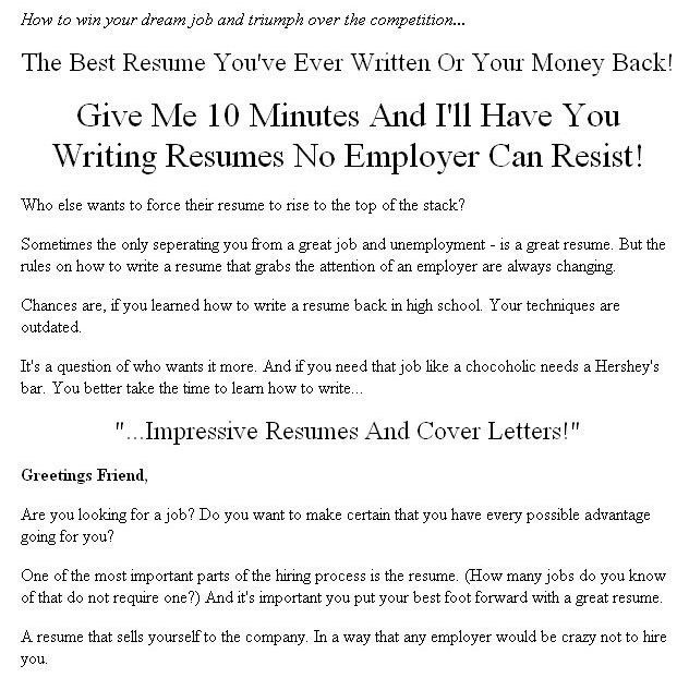 how to write a reseme