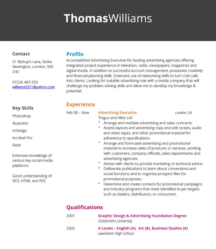 Download Advertising Executive Sample Resume ...