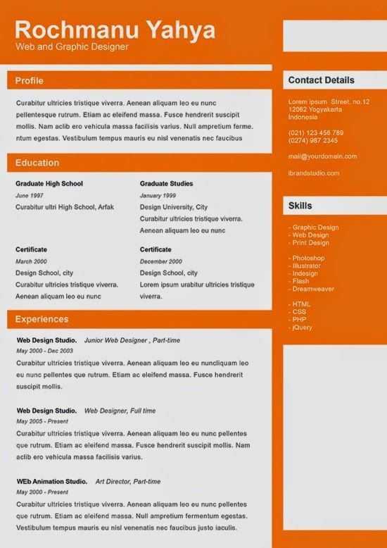 82 best Resume Templates / Plantillas images on Pinterest | Resume ...