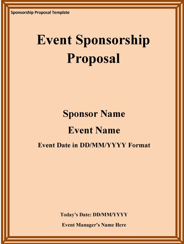 Sponsorship Proposal Template | cyberuse