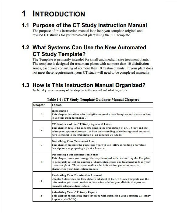 Sample Instruction Manual   9+ Documents In PDF, Word  Free User Guide Template
