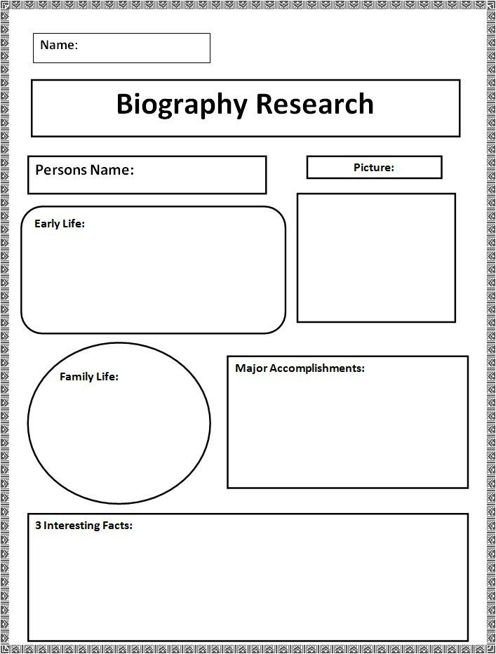 Biography Templates - Free Word, PDF Documents | Creative Template