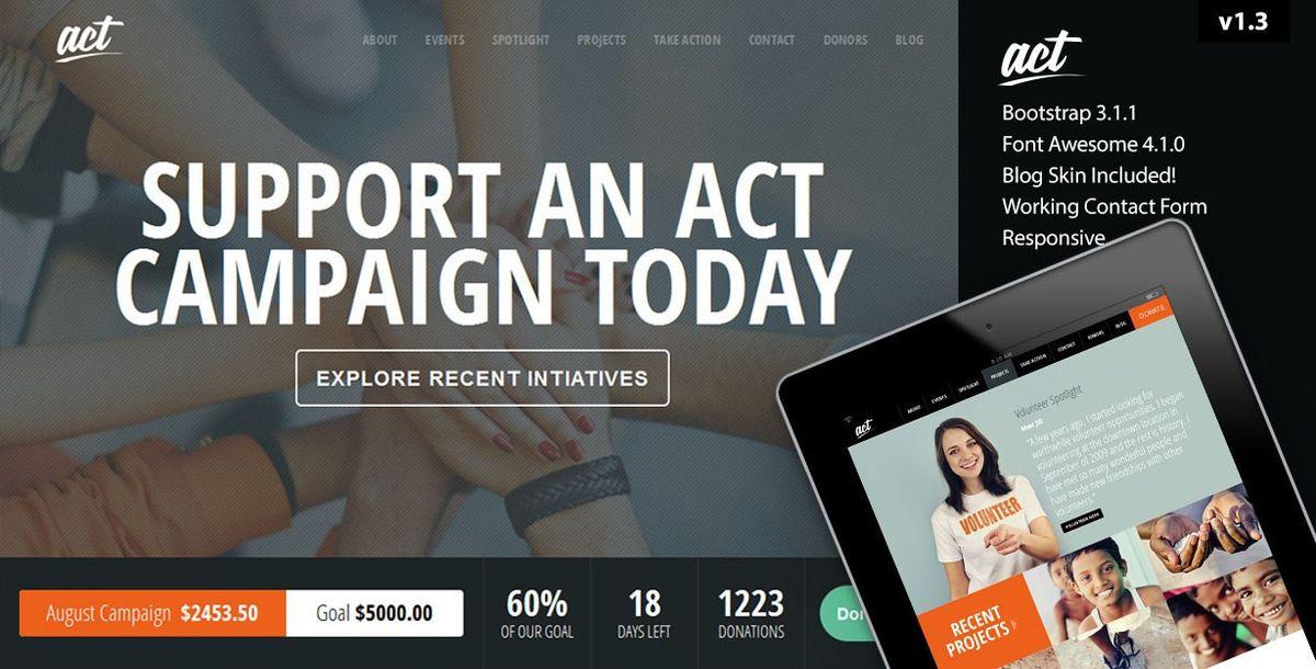 Act - Multipurpose Nonprofit Theme by KlbTheme | ThemeForest