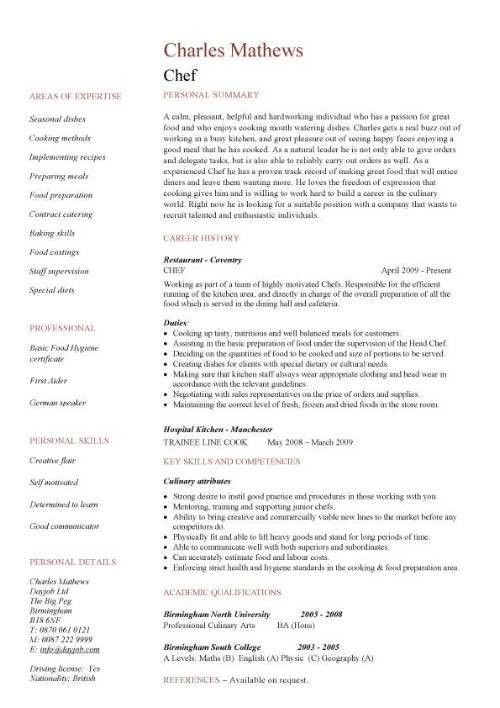 chef resume example chef resume sample examples sous chef jobs
