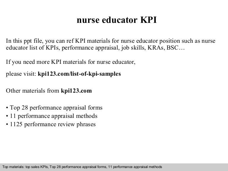 Nurse educator kpi
