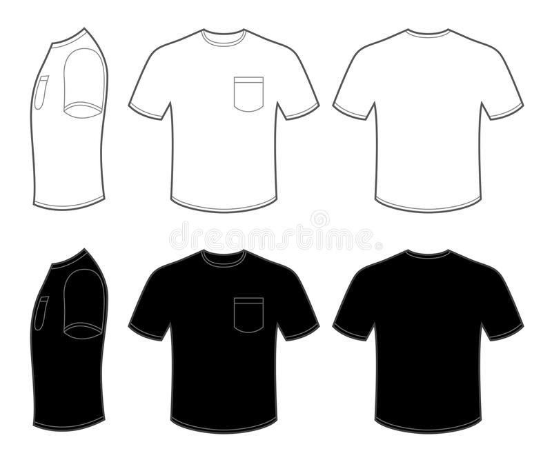 Mans T Shirt With Pocket Stock Vector - Image: 54580051