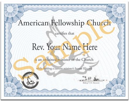 19+ Free Ordination Certificate Template   Sample Ordination ...