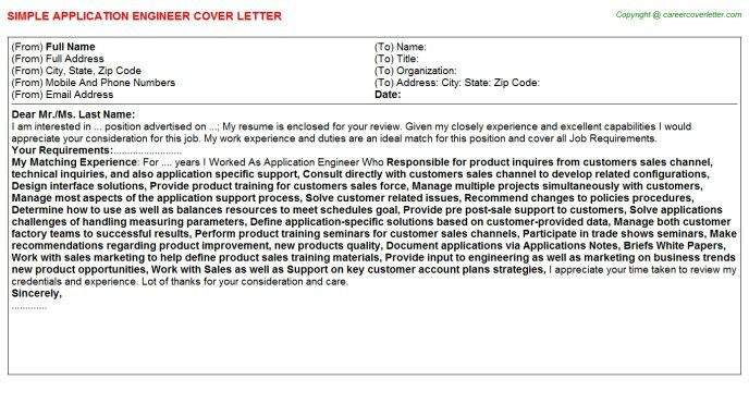 Application Engineer Job Description | | jvwithmenow.com