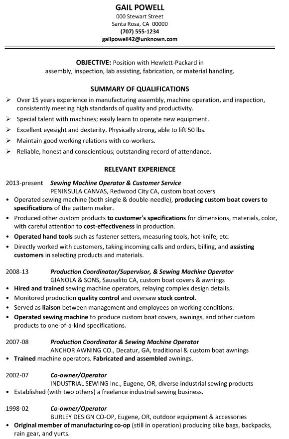 Production Resume Samples Archives - Damn Good Resume Guide