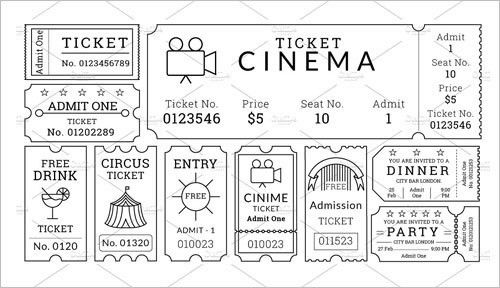 Movie Ticket Template - Free Word, EPS, PSD Formats Download ...