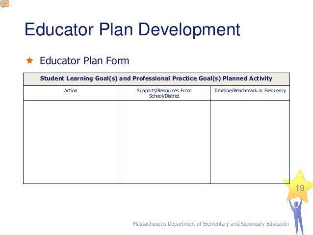 Education Professional Development Plan Sample | Create ...