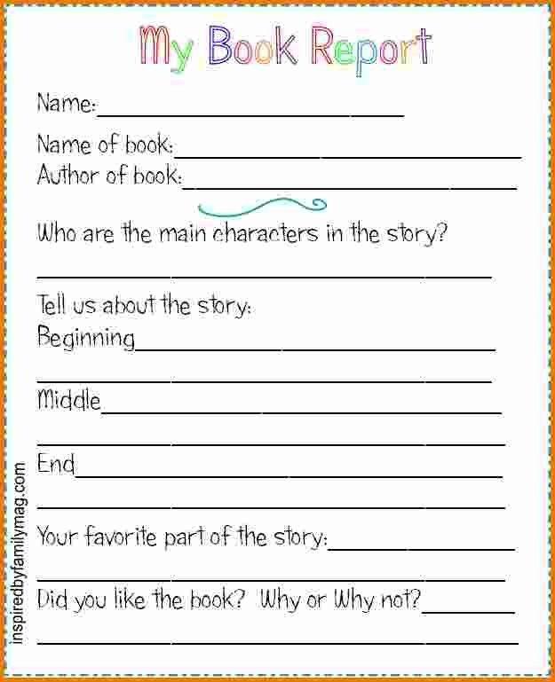 Attractive 4+ Book Report Template 2nd Grade | Expense Report In Book Report Template Grade 2