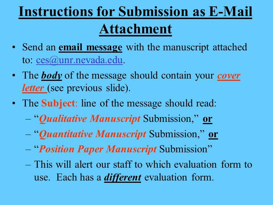 Should cover letter be body of email or attachment
