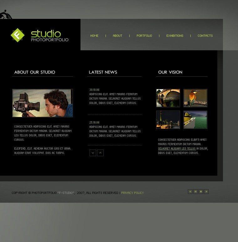 Website Template #12968 Photo Studio Photography Custom Website ...