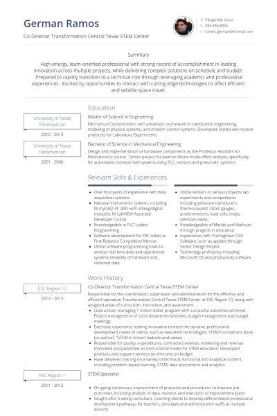 project coordinator resume sample