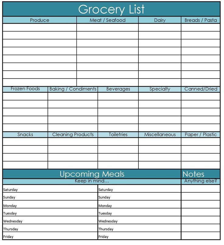 32 best Organize - Printables images on Pinterest | Grocery ...