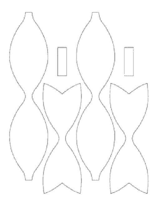 foam hair-bow template | Ronna s Pins | Pinterest | Hair bow ...
