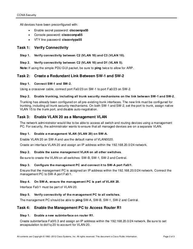 Student packet tracer manual v1.1