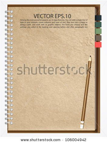 Old Brown Notebook Paper Isolated On Stock Illustration 113648548 ...