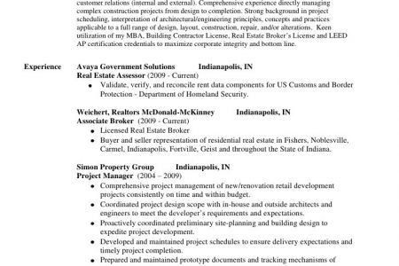 Government Contractor Resume Sample - Reentrycorps