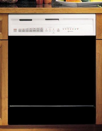 Black Dishwasher Cover. Fun Kitchen Appliance Upgrades.