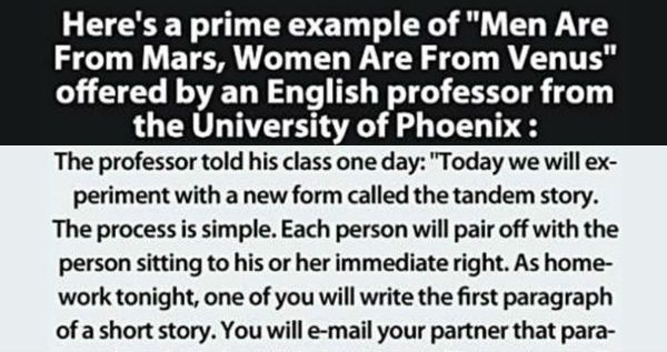 Here's A Prime Example Of Men Are From Mars, Women Are From Venus ...