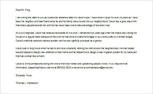 Awesome Collection of Letter Of Recommendation Examples For Friend ...