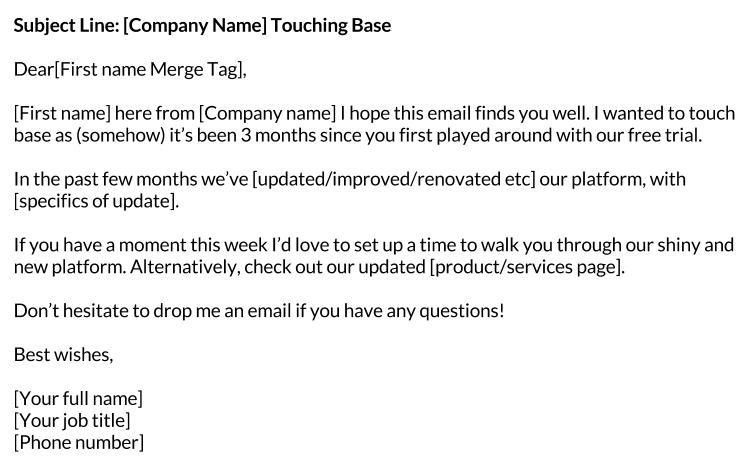 free sales email templates - Template