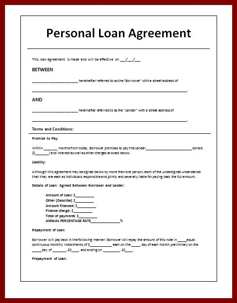 15+ personal loan agreement sample | sendletters.info